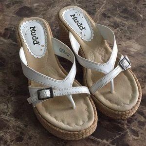Mudd Wedge Sandals - White - 8M
